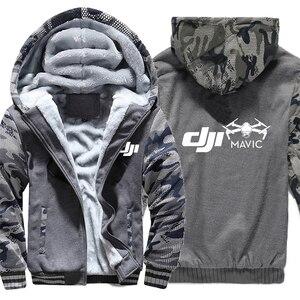Image 4 - Dji veste à capuche en molleton dhiver, manches Camouflage, fermeture éclair, Mavic Pilot