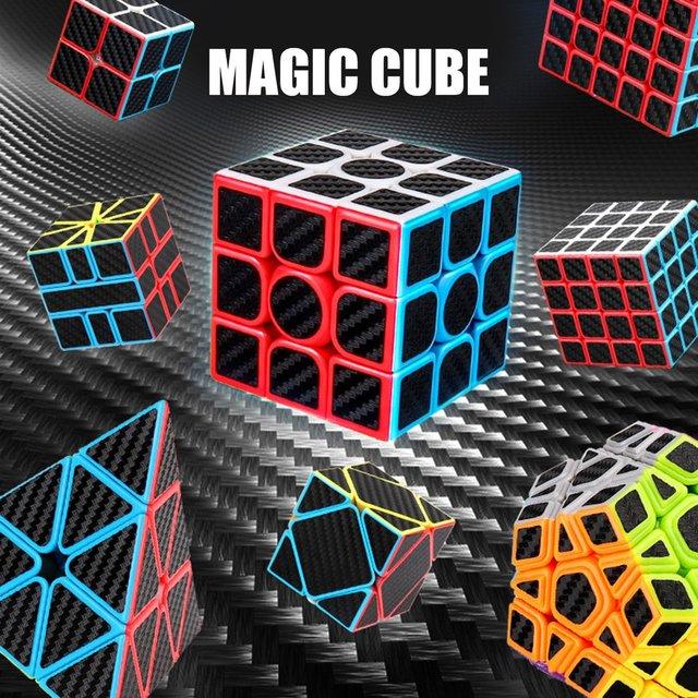 Magic Cube Pyramid Multi-Order Magic Cube Carbon Fiber Sticker Series Magic Cube Children'S Educational Toys 3