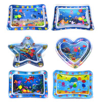Baby Water Mat Pat Pad Spray Inflatable Different Patterns Water Cushion Marine Life Mat Ice Music Water Accessories