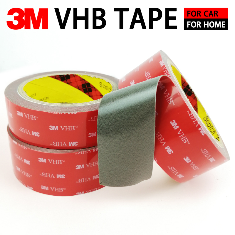 3M Double Sided Tape For Car VHB Strong Sticky Adhesive Tape Anti-Temperature Waterproof Office Decor Thickness 0.8mm