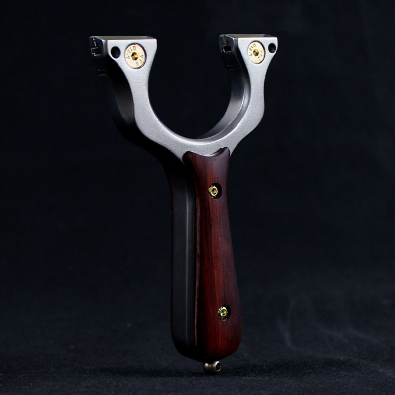 Wood Patch Hunting Slingshot Catapult Stainless Steel With Aim Shooting With Flat Rubber Band 2019 New