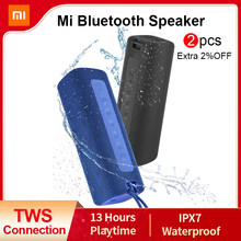 Xiaomi mi portátil bluetooth alto-falante ao ar livre 16w tws conexão de alta qualidade som ipx7 à prova dwaterproof água 13 horas playtime mi alto-falante