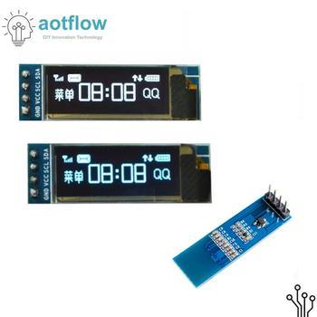 "0.91 Inch 128x32 I2C IIC Serial White Blue OLED Liquid Crystal Display Module 0.91""12832 SSD1306 LCD Screen For Arduino Aotflow"
