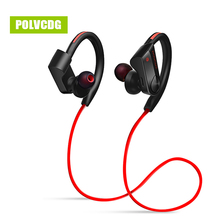 POLVCDG Sports Bluetooth Earphones Wireless Sweatproof Headset Music Stereo Earbuds with Microphone