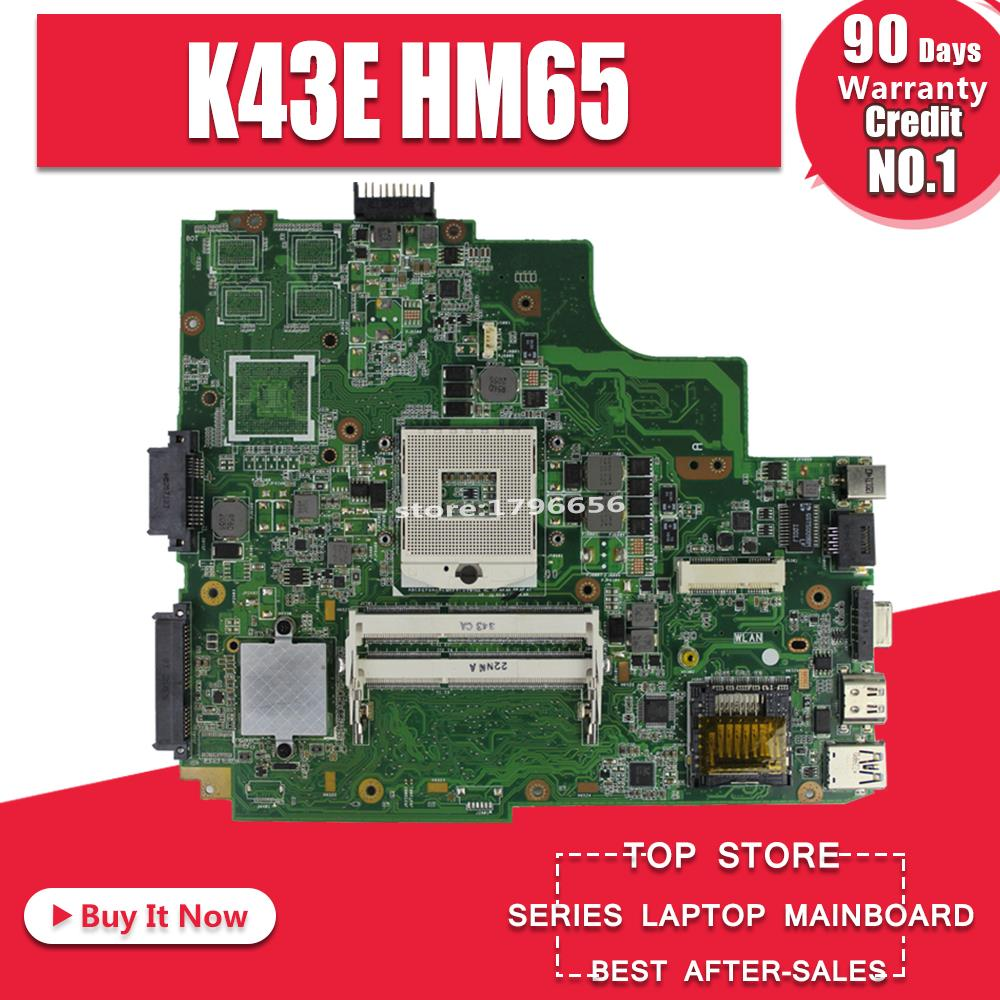 K43E Motherboard REV:2.2 HM65 For ASUS K43SD X43S A43S K43S Laptop Motherboard K43E Mainboard K43E Motherboard Test OK