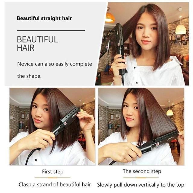 Hair Straightener Steam Flat Iron Four-Gear Hair Straightening Tourmaline Ceramic Professional Hair Straightener Styling Tool 4