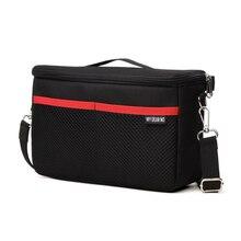 Черный DSLR перегородка мягкая камера сумка вкладыш чехол водонепроницаемый Встроенный вкладыш Камера сумка для Nikon для Canon объектив