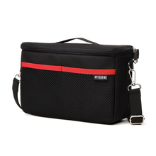 أسود DSLR التقسيم مبطن حقيبة كاميرا إدراج حافظة مقسم مقاوم للماء المدمج في إدراج حقيبة كاميرا لنيكون لعدسة كانون