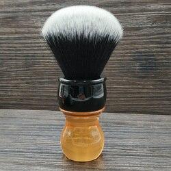 Dscosmetic 26mm esmoquin pelo sintético nudos citrino mango cepillo de afeitar