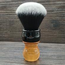 Dscosmetic brocha de afeitar con mango de citrino, 26mm, nudos de pelo sintético para esmoquin