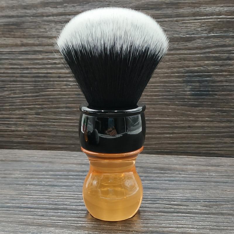 Dscosmetic 26mm Tuxedo Synthetic Hair Knots Citrine Handle Shaving Brush