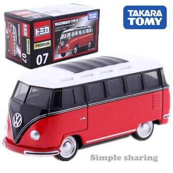 Takara Tomy Tomica Premium 07, modelo Volkswagen Tipo II, Kit de 1/65, autobús fundido a troquel en miniatura, juguetes para bebés Pop en oferta, muñeca mágica divertida para niños