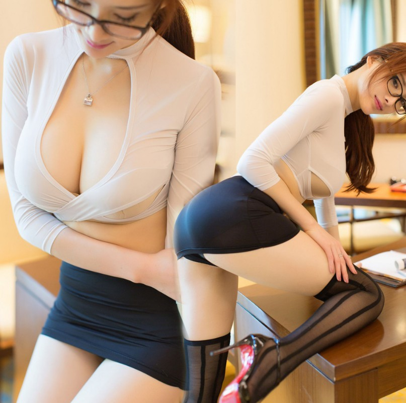 Sexy Secretary Uniform Set Role Play Clothes Women Sexy Lingerie Cosplay Skirt Teacher Costume Panty Role Play