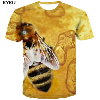 KYKU Marke Bee T shirt Männer Tier T-shirts Casual Gelb T-shirt Gedruckt Harajuku Lustige T shirts Kurzarm T shirts neue Männliche