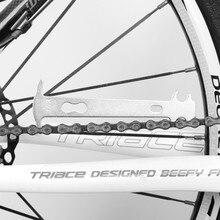 цена на 1pcs Bicycle Chain Wear Indicator Replacement Chain Standard Ruler MTB Bike Checker Repair Tool
