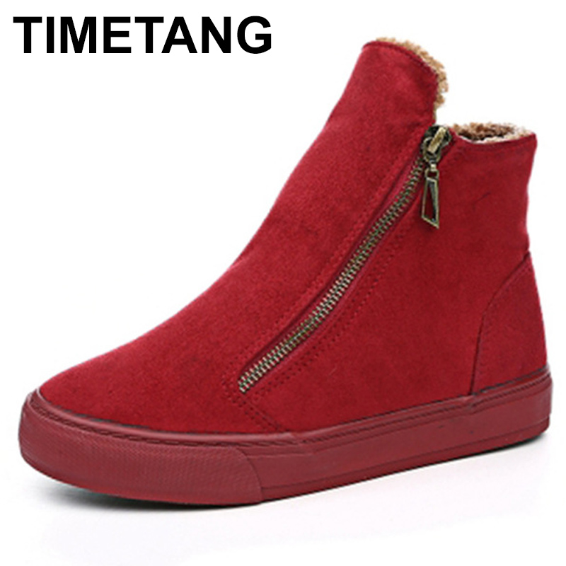 TIMETANG2021 winter snow boots for women winter shoes with warm plush zipper for cold winter fashion boots for women brand Sweet