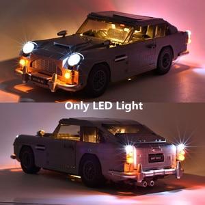 (Только светильник) Светодиодный светильник для создателя Джеймса Бонда 1964 Aston Martin DB5 агент 007 комплект строительных блоков кирпичная класси...