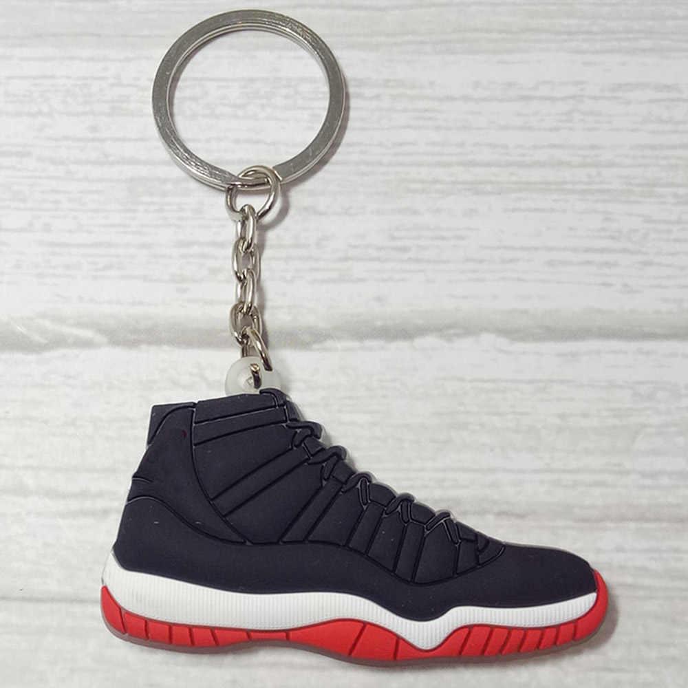 Mini chaveiro de silicone llaveros chaveiro chaveiro saco charme porta-chaves porte clef marvel llavero sapato chaveiro