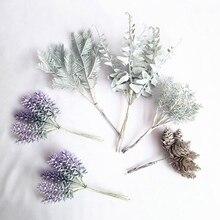 5 Искусственные цветы сосновая шишка искусственная трава конус Рождественские Свадебные DIY Украшение для альбома