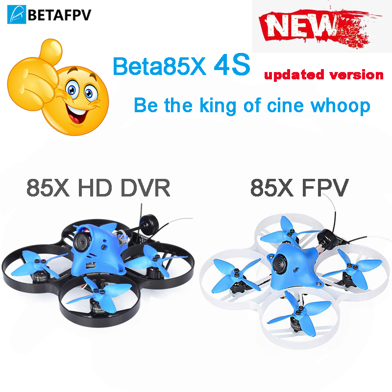Beta85x whoop quadcopter 4S hd whoop dvr com 1105 6000kv motor 2 s f4 fc blheli_32 esc axii antena emax avan 2