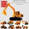 8 stylów inżynieria stopu samochód Navvy koparka ciągnik siodłowy Model Diecast pojazd zabawki dla dzieci dzieci edukacyjne chłopiec prezent