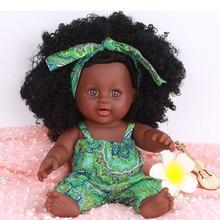 Черные модные куклы для девочек, куклы в Африканском и американском стиле, реалистичные куклы 12 дюймов для детских игр, силиконовые винилов...