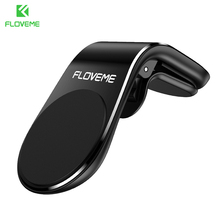 FLOVEME Magnetic Car Phone Holder For Phone in Car L Shape Air Vent Mount Stand Magnet Mobile Holder For iphone X 11  Samsung S9