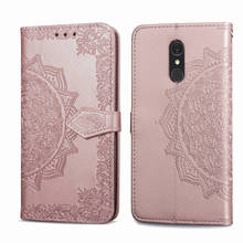 Leather Case for LG Q7 Q 7 Plus Q7+ Flip Cover Case 360 Luxury Leather Card Soft