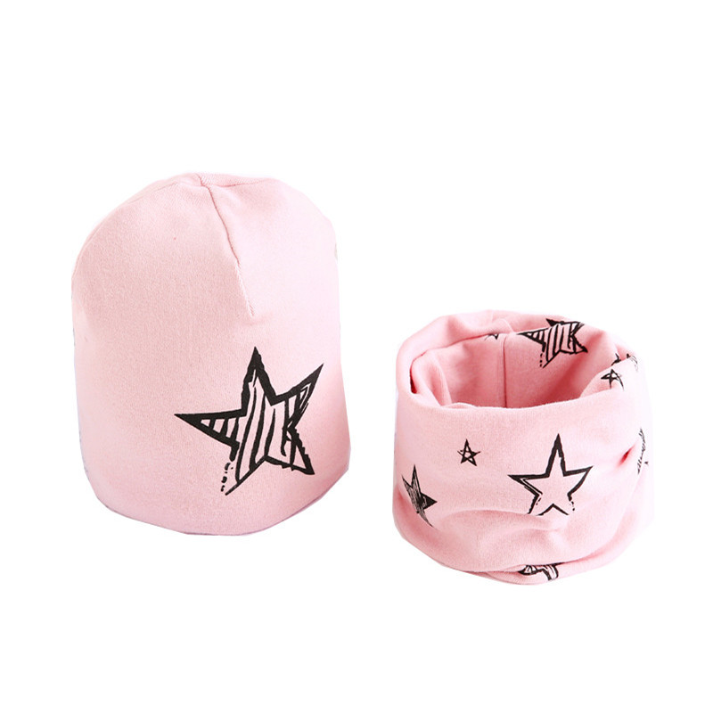 New 2019 Spring Autumn Baby Girls Hat Scarf Set Boys Hat Winter Warm Children Hat Scarf-Collar Set Cotton Baby Hats Scarves Set