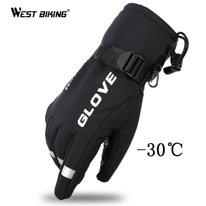 WEST BIKING Winter Ski Gloves Snowboard Gloves Snowmobile Motorcycle Cycling Gloves Windproof Waterproof Snow Warm Skiing Gloves