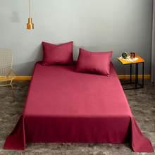 Bonenjoy 1 قطعة بياضات سرير ل سرير مفرد ورقة علوية للسرير الصلبة النبيذ الأحمر اللون الملكة حجم مجموعة ملايات فراش الملك الحجم (لا المخدة)