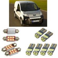 Интерьерный светодиодный автомобильный светильник s для peugeot bipper коробка AA tepee estate автомобильные аксессуары фонарь для багажника номерного знака светильник 4 шт