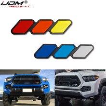 Ijdm para toyota tacoma 4 corredor tundra tri-color 3 grade emblema emblema adesivos decalques acessórios do carro auto estilo do carro