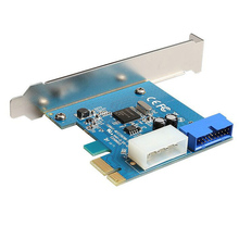 DIEWU-carte d'extension pcie vers USB 3.0, carte d'extension p/O, 20 broches \u002819 broches\u0029, carte d'extension d'interface convertisseur, avec alimentation à 4 broches