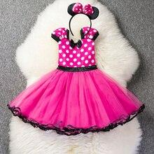 Детские платья для маленьких девочек с узором в горошек, костюм принцессы Платье для косплея на От 1 до 5 лет, детская одежда для дня рождения;...