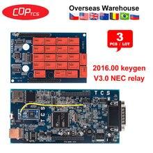 3 adet CDP TCS CDP PRO artı Bluetooth 2015.R3 keygen yazılımı OBD2 otomatik tarayıcı arabalar için OBDII teşhis aracı