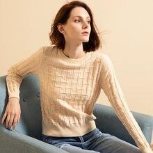 Женский кашемировый свитер бежевый пуловер из натуральной ткани