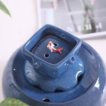 Pet Cat Ceramic Water Dispenser Circulating Drinking Fountain Automatic Feeder