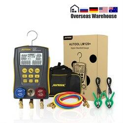 LM120 + Refrigerantion Digitale Verteiler HVAC Vakuum Druck Temperatur Leckage Tester Air-Conditioner Kühlschrank Dignostic