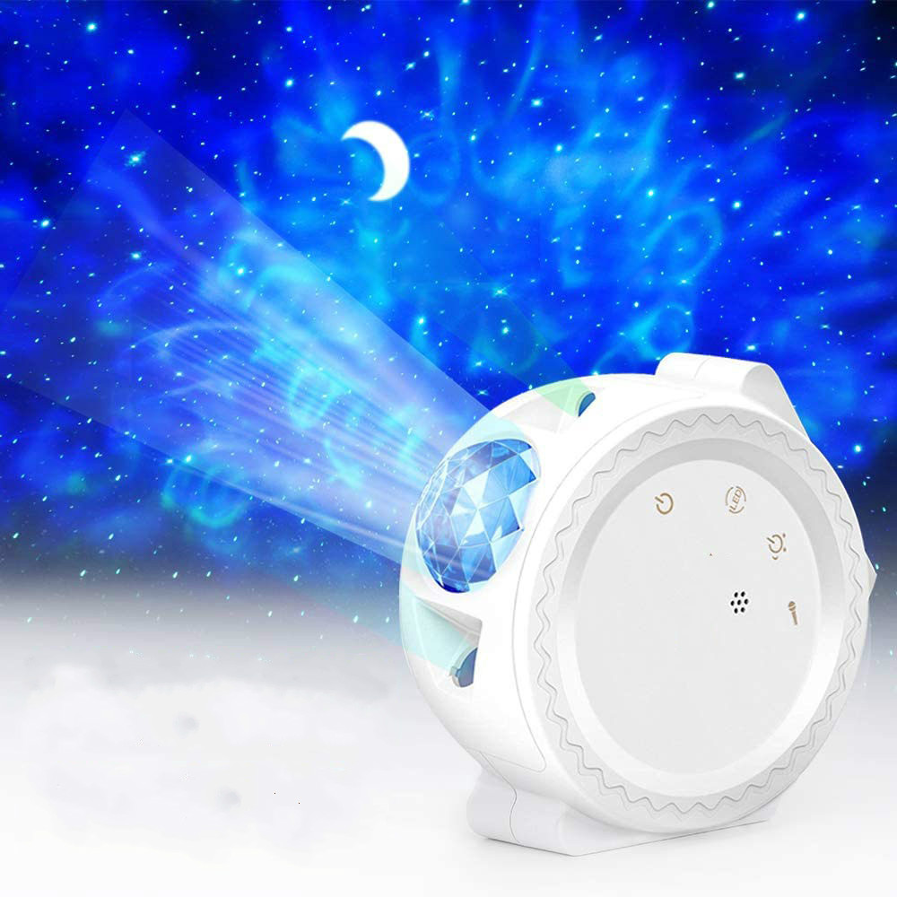 2020 New Starry Sky Projector LED Nebula Night Light Colorful Ocean Light 360 Degree Rotation Night Lighting Lamp For Kids