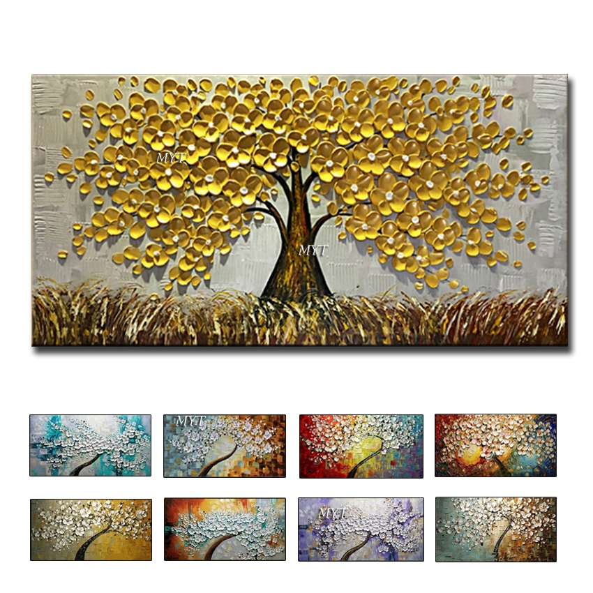 Wall Art Abstract Paintings Modern Oil Painting On Canvas Home Decoration Living Room Pictures Handpainted No Framed HF0010 image