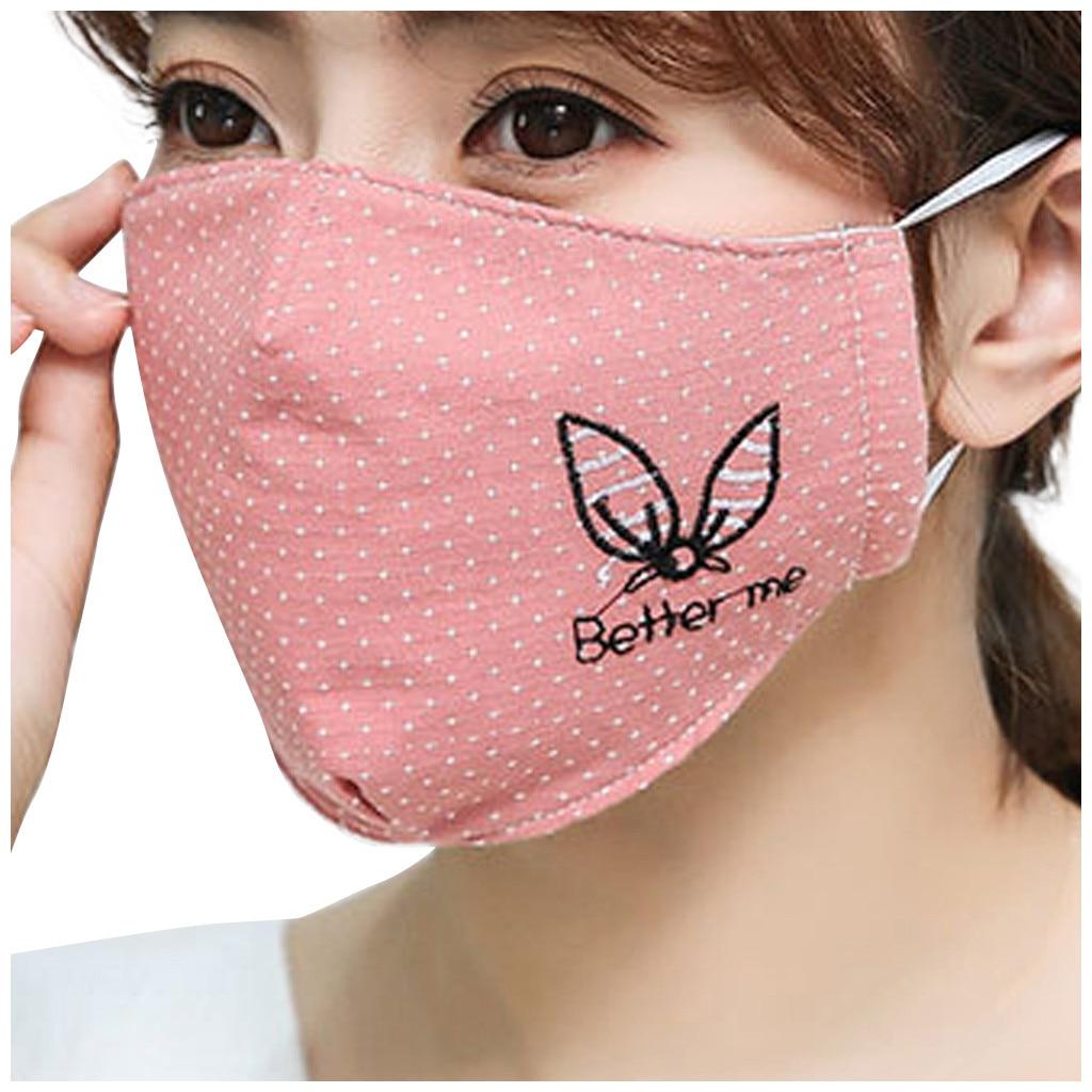 H51b539962dc74f34ad62bd66003898dd6 Kawaii Maska Women Cotton Print Facemask Outdoor Riding Quick-drying Dustproof Keep Warm Mask