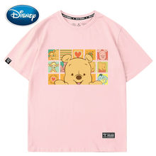 Disney Winnie the Pooh Bär Ferkel Tigger Liebe Cartoon Druck Frauen T-Shirt Oansatz Pullover Kurzarm Lose Tee Tops 5 farben(China)