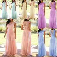 Grande taille S-5XL mariage demoiselle d'honneur fête Maxi Robe Robe Femme 2019 Vestidos Vintage dentelle Patchwork longue Robe