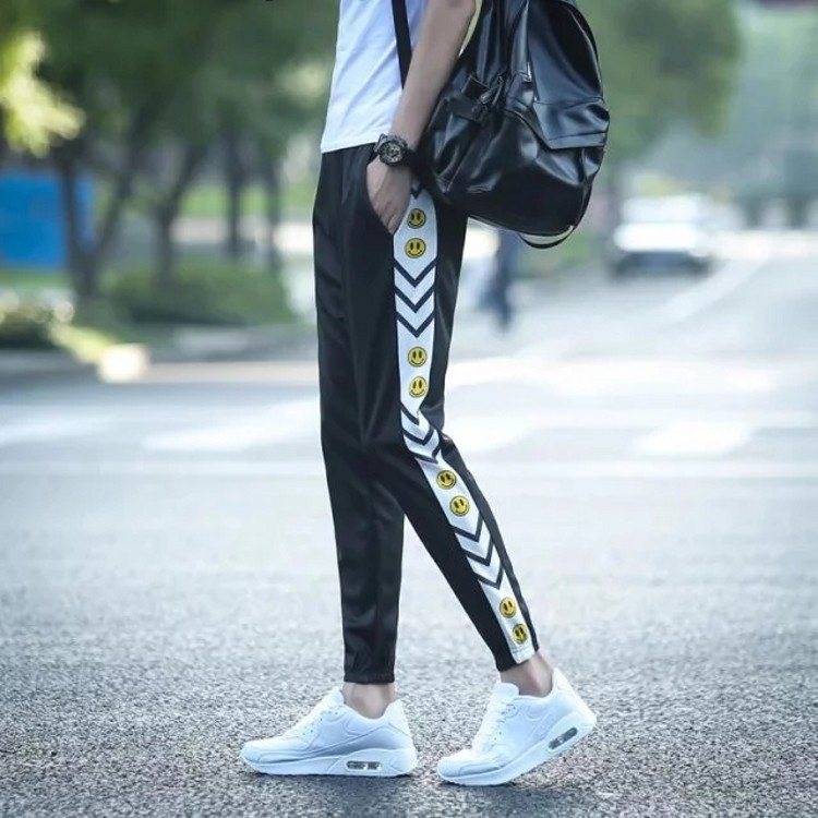 Doll Smiley Spring And Autumn Korean-style Teenager Skinny Harem Pants Men's Elastic Lace-up Pants Loose Casual Pants Fashion