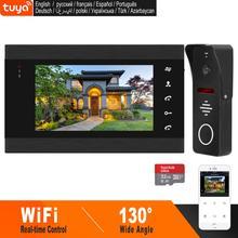 HomeFong 7 بوصة واي فاي فيديو إنترفون نظام الفيديو باب الهاتف الذكي زاوية واسعة باب كاميرا كشف الحركة التحكم في الوقت الحقيقي عن طريق الهاتف