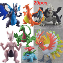 TAKARA TOMY Pokemon XY Dolls Pocket Monsters Pikachu Charizard Evolution Charizardite Doll Kids Gifts 20pcs 8CM grafalex xy 201