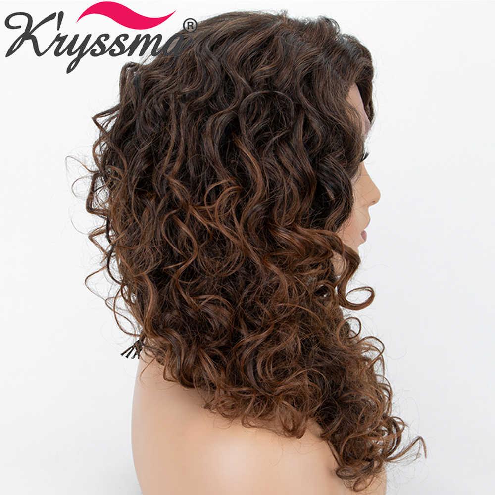 Kryssma Synthetische Spitze Front Perücken Für Schwarze Frauen Braun Cosplay Perücken Synthetische L Teil Ombre Perücke Natürlichen Haaransatz Perücken