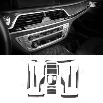 Real Carbon Fiber Interior Trims Dashboard Central Console Cover Stickers for BMW 7 Series G11 G12 730i 740i M760 2016-2019