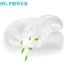 2M PVC Flexible Duct White Hose Pipe Steel Wire Home Ventilation Telescopic Inline Fan Dust Exhaust
